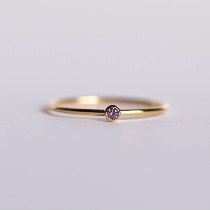 CZ February Birthstone Ring