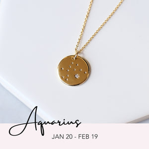 Zodiac Constellation Necklace - Aquarius