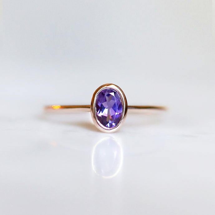 Arwen Ring with Amethyst