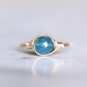 Sky Blue Jade Ring