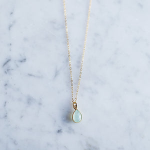 Aurora Necklace - Chalcedony