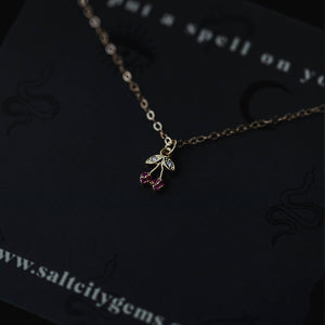 The Forbidden Fruit Necklace - Cherries