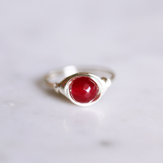 Cherry Jade Ring