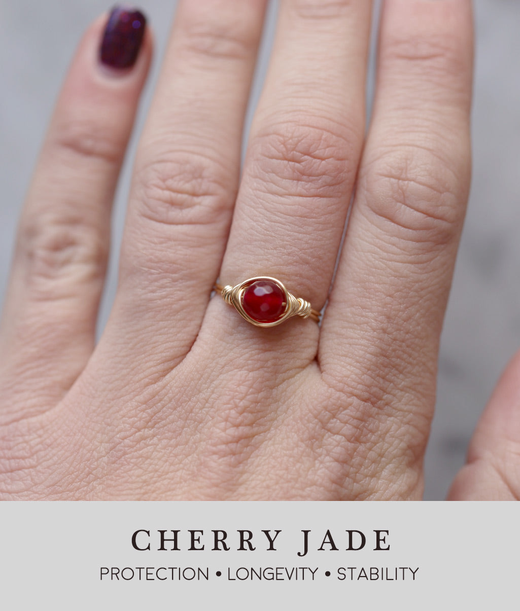 Cherry Jade Ring Salt City Gems