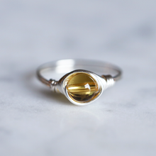 November Birthstone Ring - Citrine Ring