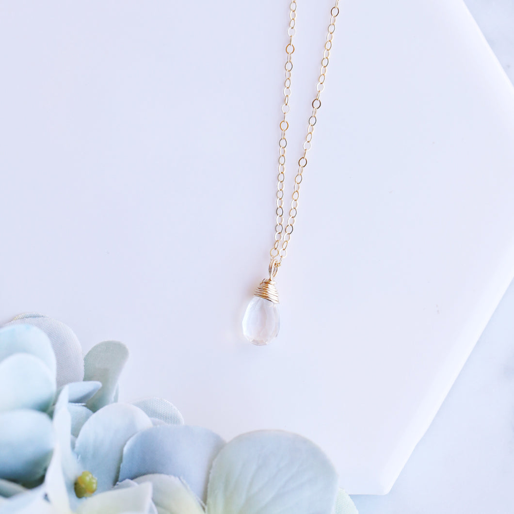 Dainty Clear Quartz Necklace