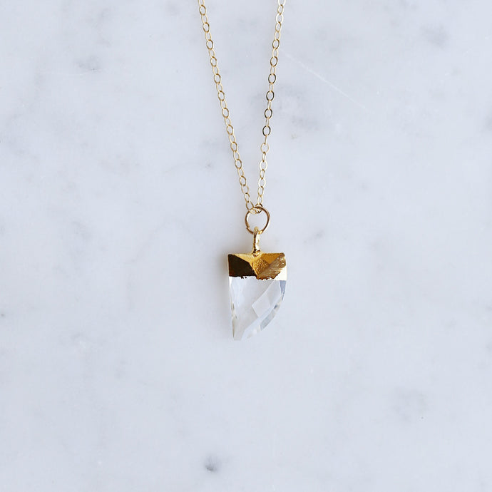 Eos Necklace - Clear Quartz