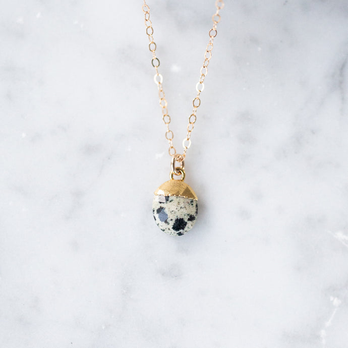 The Irene Necklace - Dalmatian Jasper
