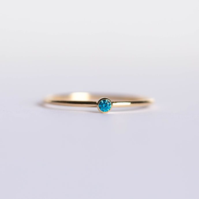 CZ December Birthstone Ring