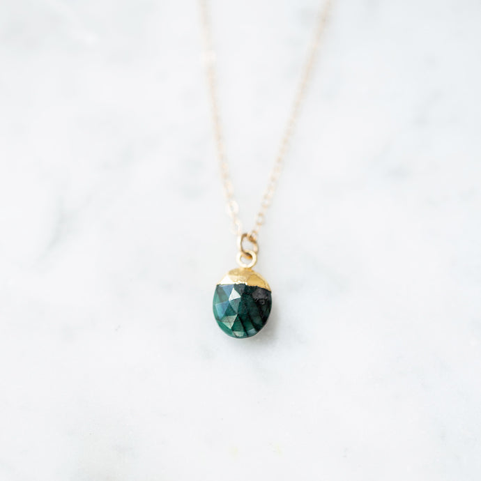 The Irene Necklace - Emerald
