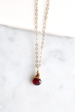 Dainty Garnet Necklace