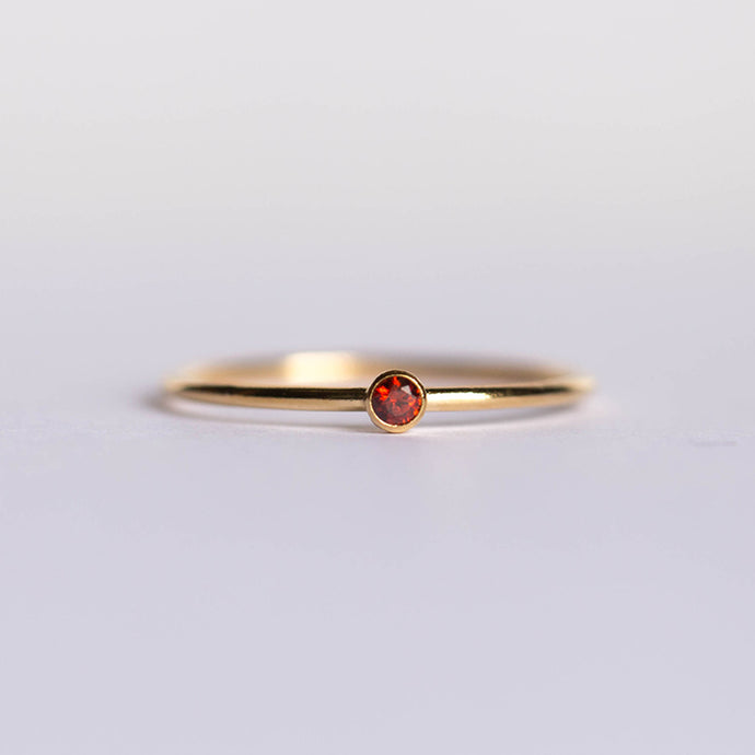 CZ January Birthstone Ring