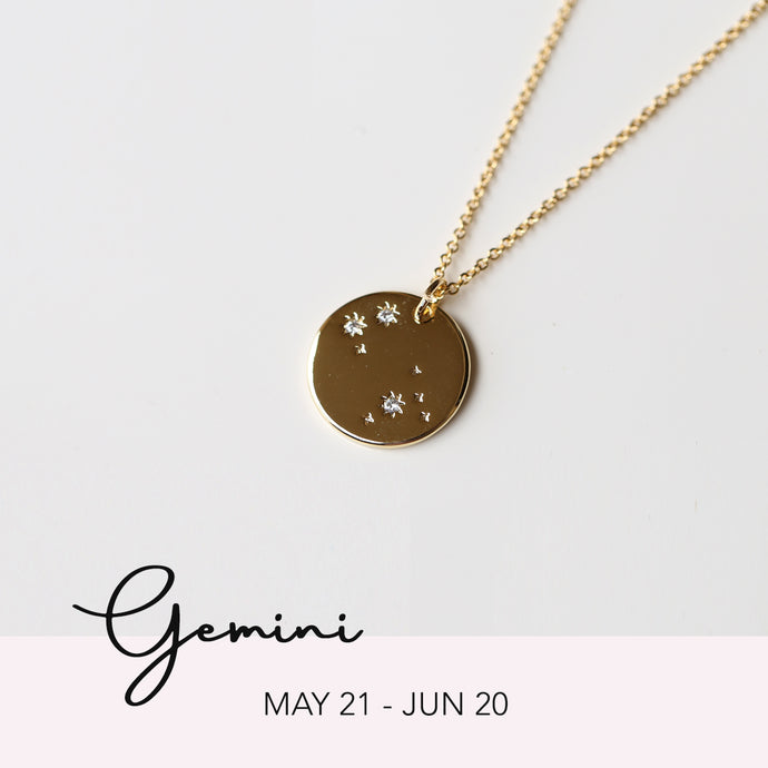Zodiac Constellation Necklace - Gemini