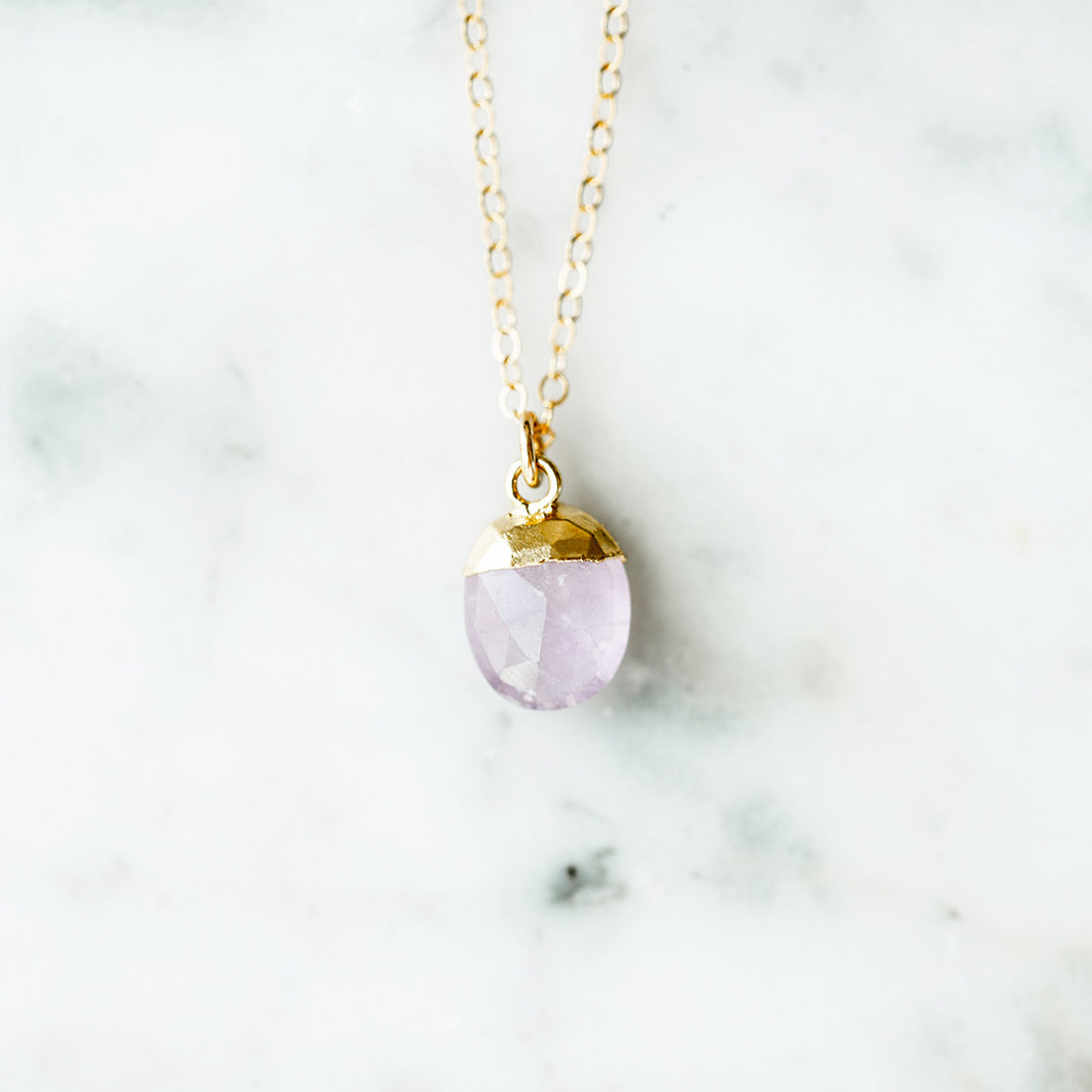 The Irene Necklace - Lavender Amethyst
