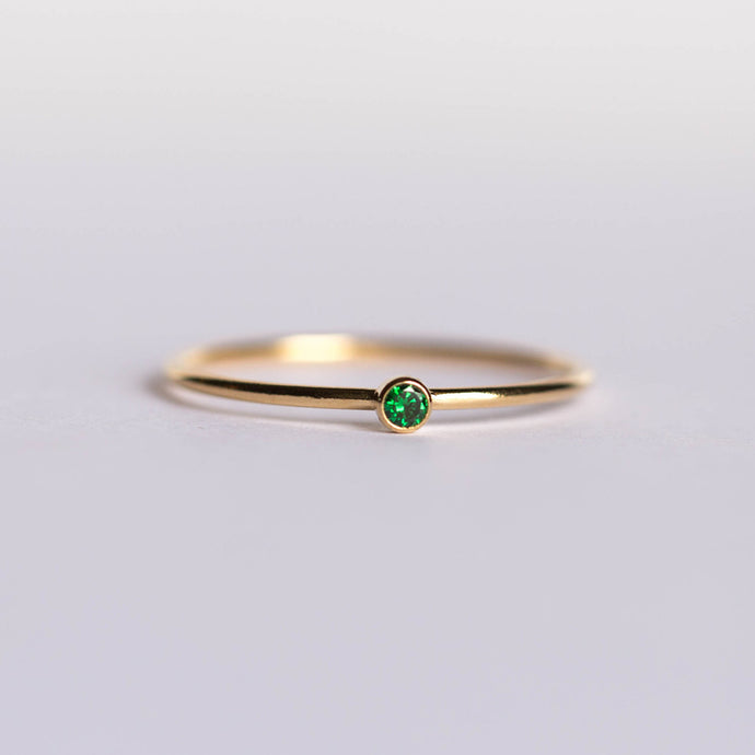 CZ May Birthstone Ring