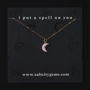 The Moon Child Necklace - Pink