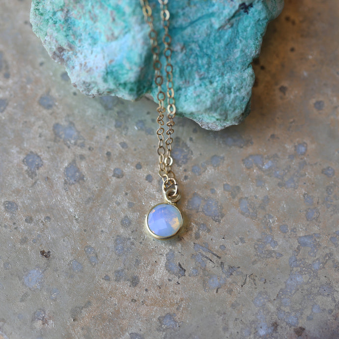 Minimal Opalite Pendant Necklace