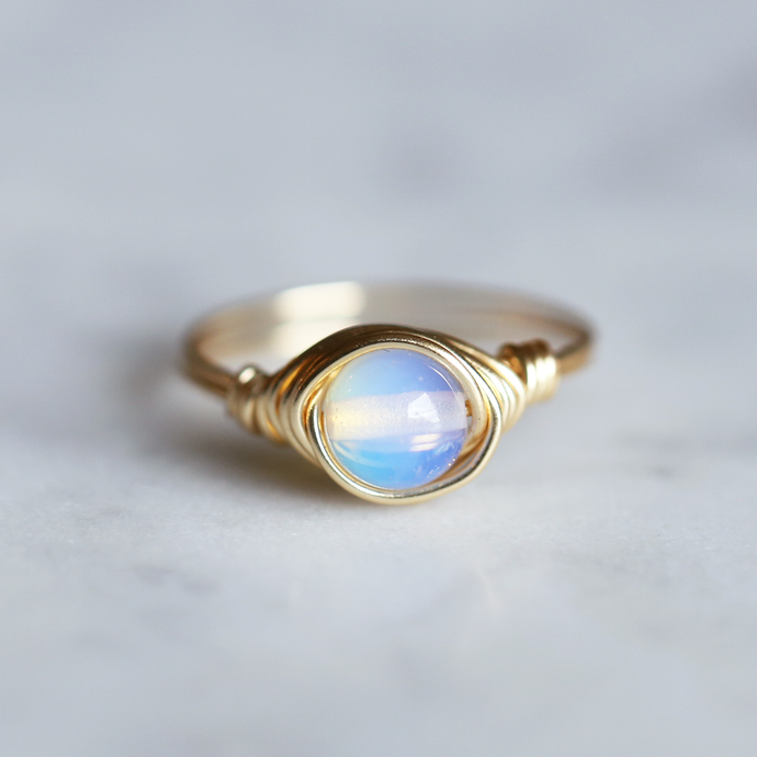 Opalite Ring - gold filled