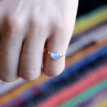 October Birthstone Ring - Opalite Ring