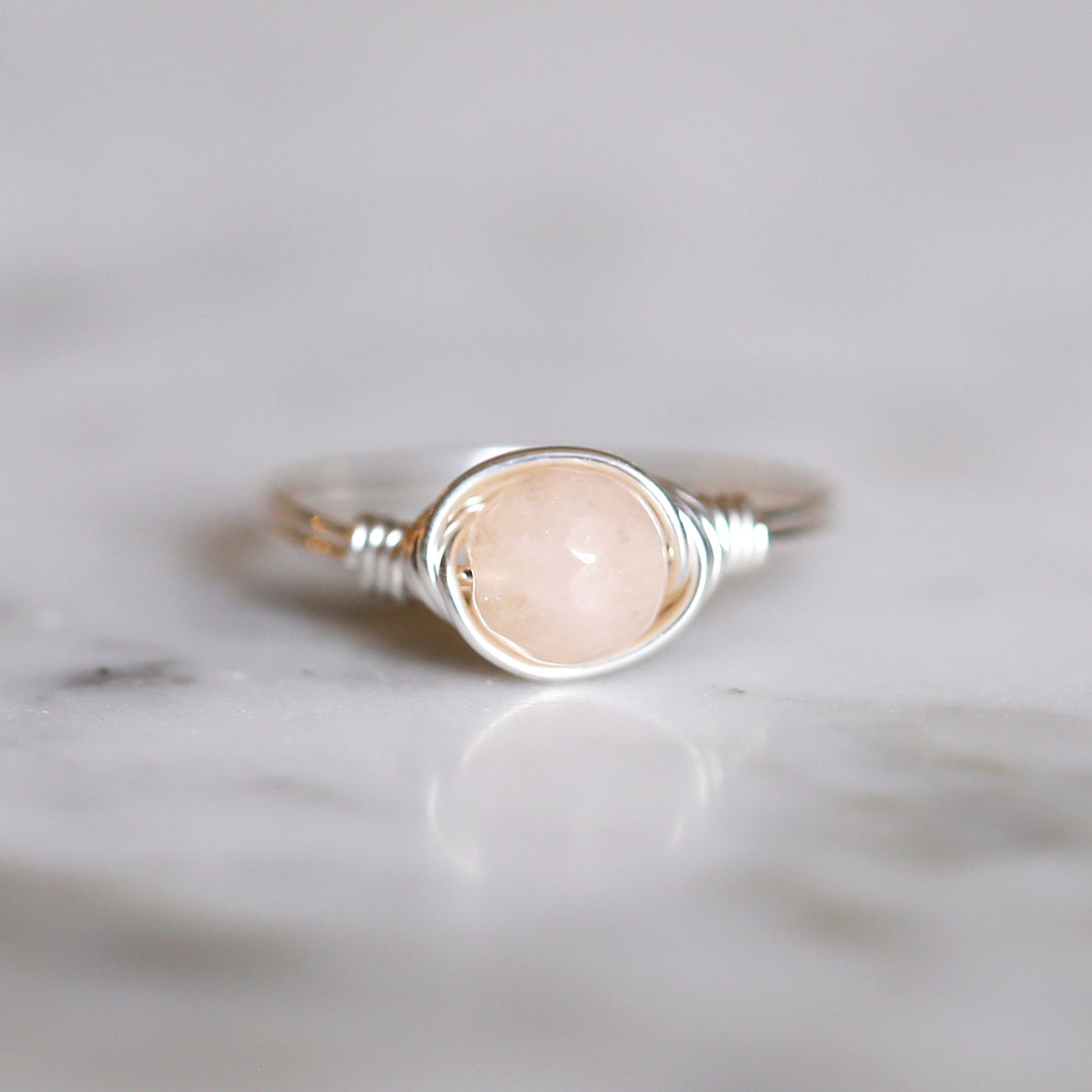 Peach Jade Ring
