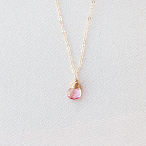 Pink Topaz Necklace