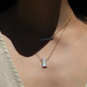 Theia Necklace - Rainbow Moonstone