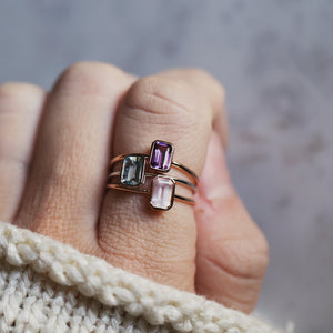Empress Ring with Rose Quartz