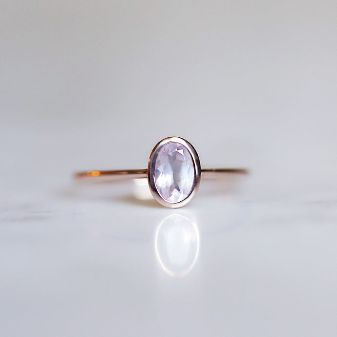 Arwen Ring with Rose Quartz