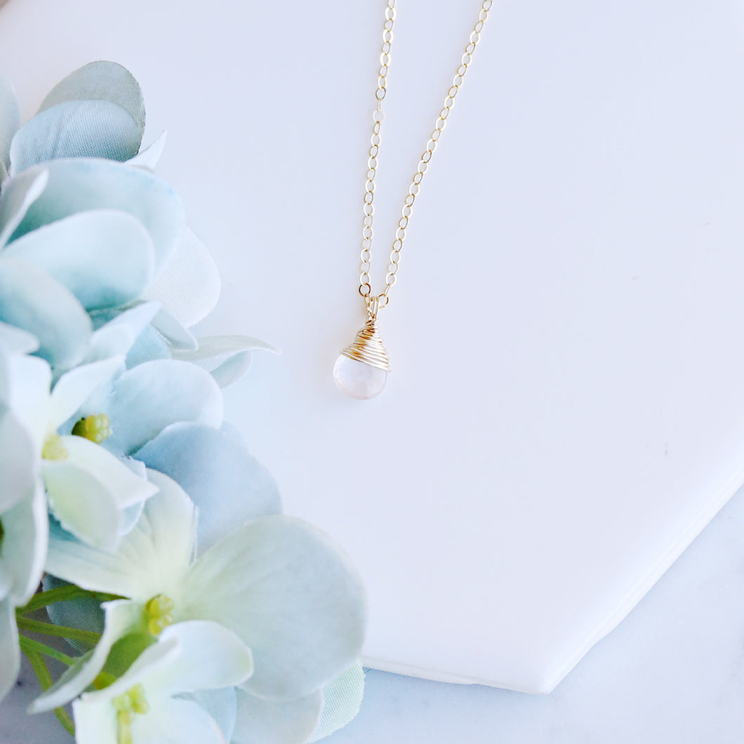 Dainty Rose Quartz Necklace