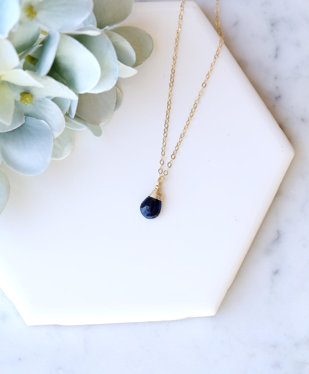 Dainty Sapphire Necklace
