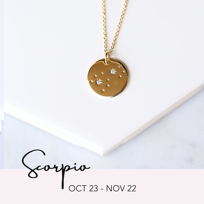Zodiac Constellation Necklace - Scorpio