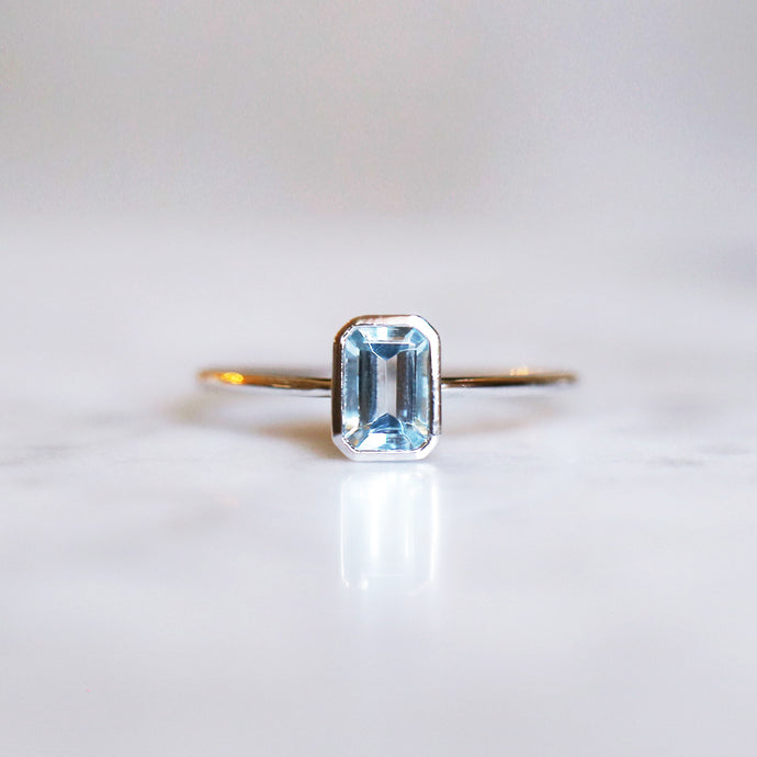 Empress Ring with Sky Blue Topaz