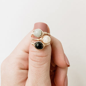 Holiday Gemstone Ring Stack