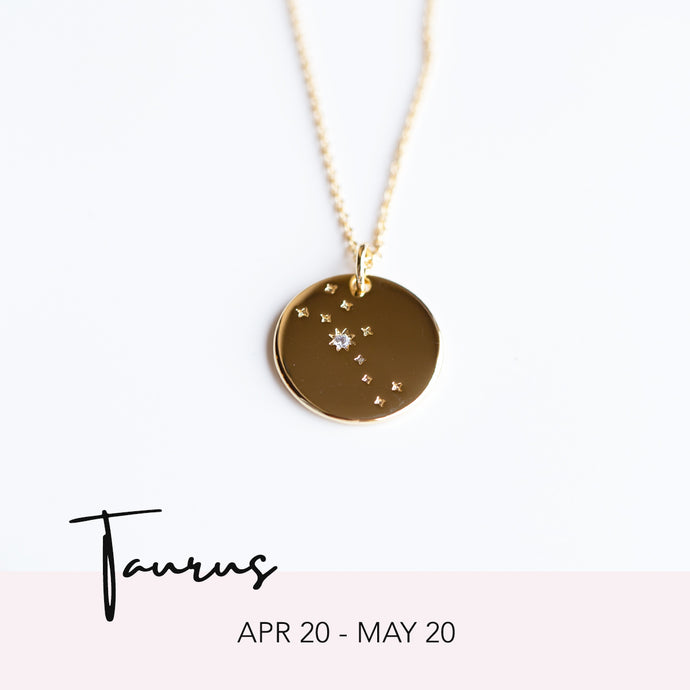 Zodiac Constellation Necklace - Taurus