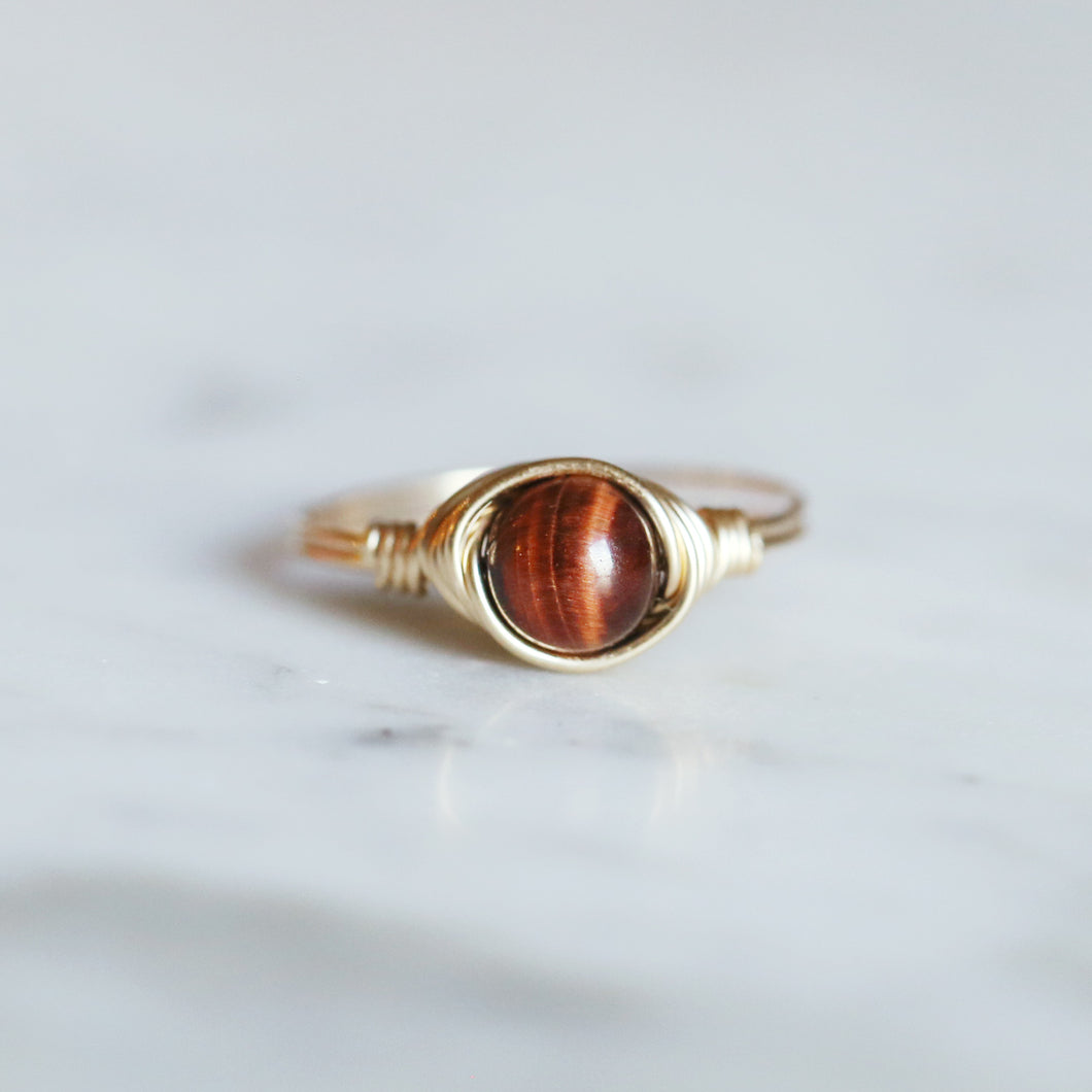 Red Tiger's Eye Ring