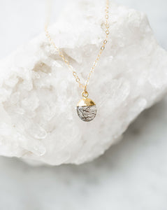 The Irene Necklace - Tourmalinted Quartz