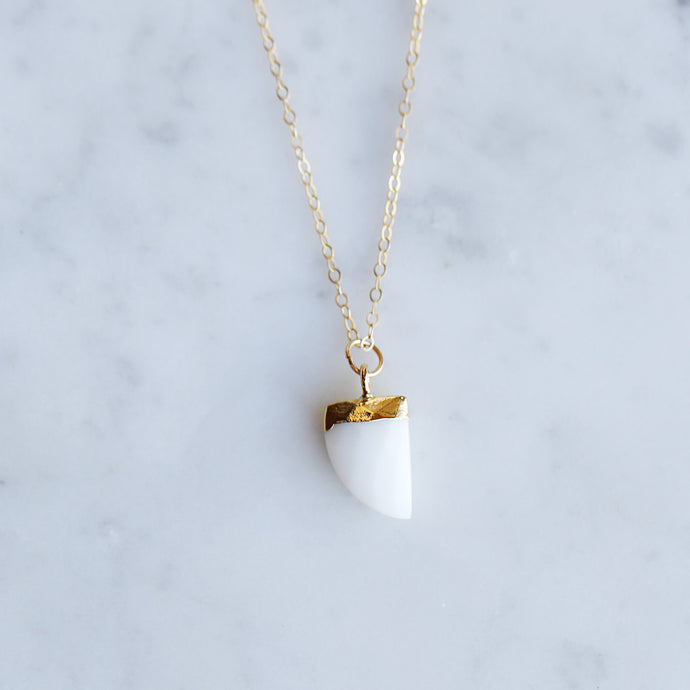 Eos Necklace - White Chalcedony