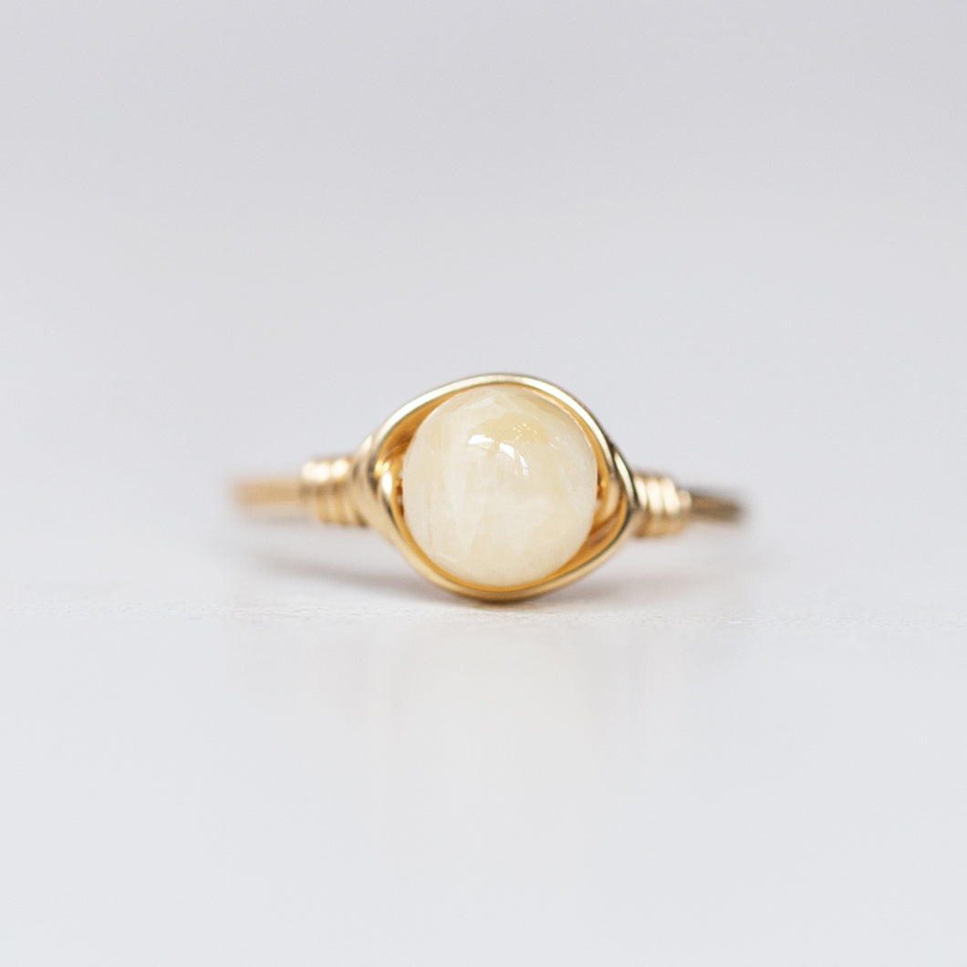 Yellow Calcite Ring