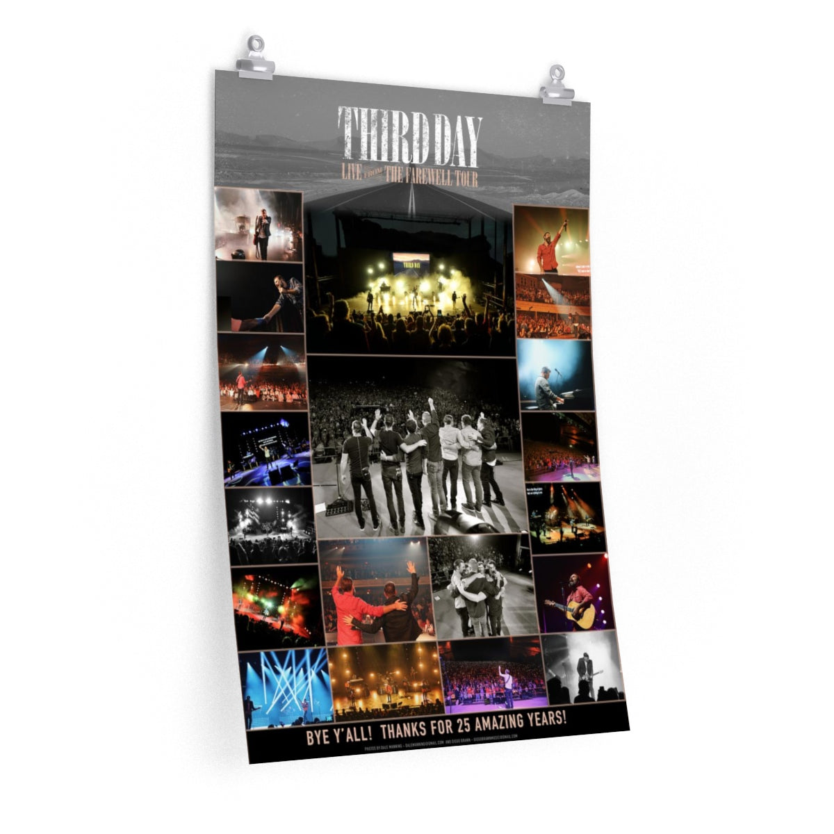 Third Day Limited Edition Farewell Tour photo poster