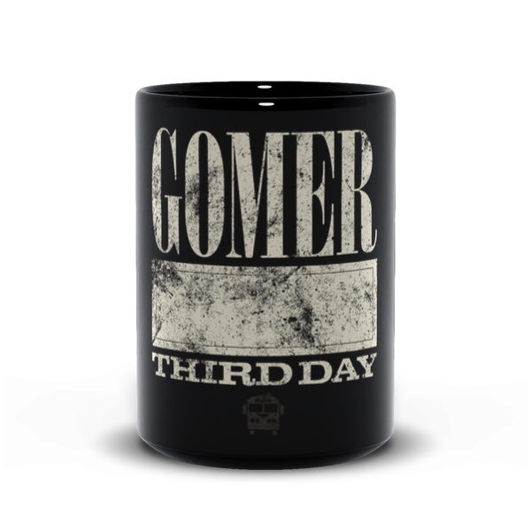 Gomer Name Badge Black Mugs