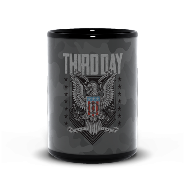 Camo Eagle Black Mugs