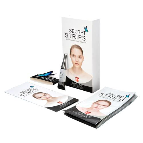 Secret Strips Eye Anti-Wrinkle Patches With Hyaluronic Serum - 2 Step Anti-wrinkle Treatment Patches For Under Eye Wrinkles and Crowsfeet