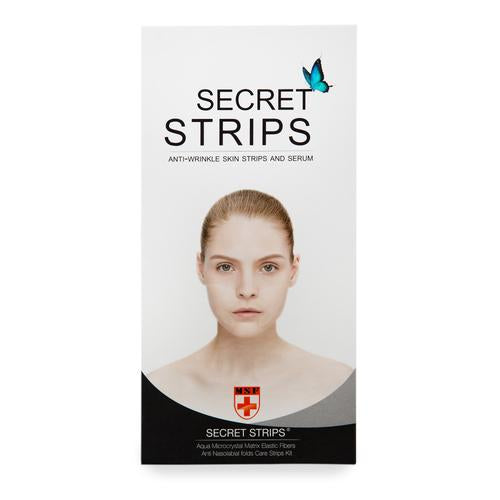 Secret Strips Anti-Wrinkle Nasolabial Patches With Hyaluronic Serum- 2 Step Anti-wrinkle Treatment Patches For Laugh Lines