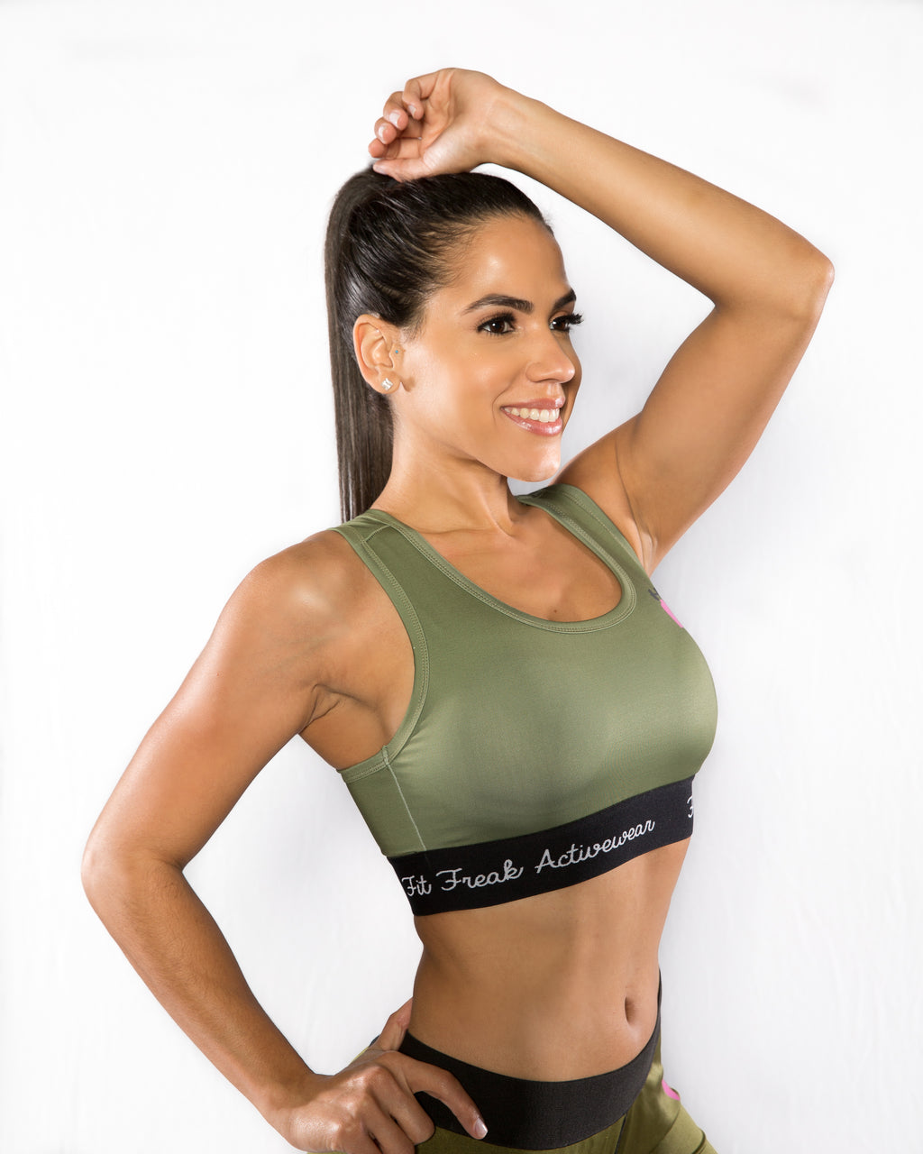 MILITANT SPORTS BRA-CAMO GREEN - Sweet Sweat