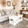 Rustic Baluster farmhouse Coffee Table distressed rectangle -all over distressed paint