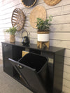 triple size tilt out trash bin, dual trash with shelf in beautiful black (3REG-SHELF-multicolor)