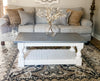 Rustic Baluster farmhouse Coffee Table distressed gray, rectangle