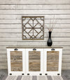 triple tilt out trash bin beautiful white (3REG-W Aged barrel stained top)