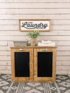 Tilt out laundry hamper double bin golden oak (D-LAU-GO)