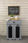 tilt out double bin with a drawer slim style (D-SLIM-DRAW-DG)
